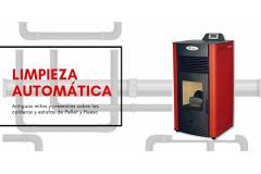 Estufas de Biomasa con limpiador automático